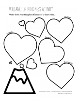 Choose Love + Zensational Kids Mindfulness Lessons and Activities Volcano Worksheet